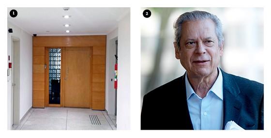 Sede da empresa do lobista Milton Pascowitch e o ex-ministro José Dirceu (Foto: Paulo Lisboa/Brazil Photo Press/Estadão Conteúdo, Joel Rodrigues/Folhapress)