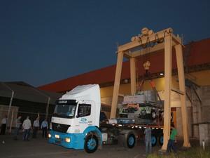 Viracopos recebe equipamento para deslocar aviões quebrados da pista (Foto: Divulgação / Aeroportos Brasil Viracopos)