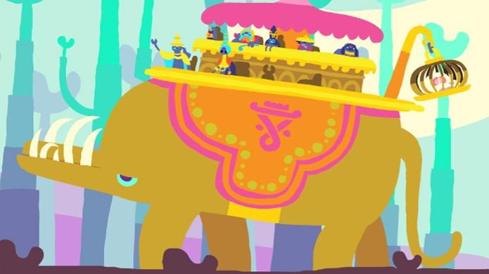 Este elefante é o que há mais próximo de um chefe em Hohokum (Foto: nerdist.com)