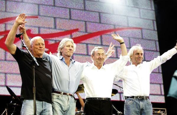 A última reunião dos quatro membros originais do Punk Floyd, em 2008 (Foto: Getty Images)
