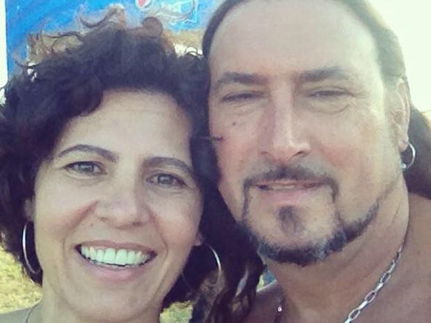 Pipa ao lado do marido Maurcio (Foto: Acervo Pessoal)