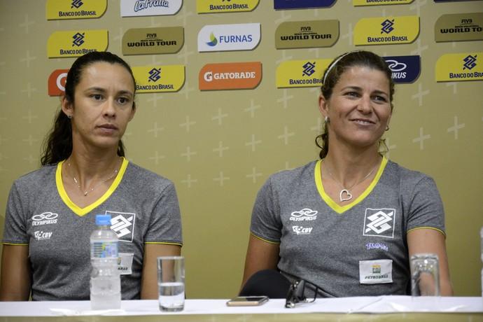 Talita e Larissa acreditam que a força da torcida em casa será fundamental no Rio 2016 (Foto: Alexandre Arruda/CBV)