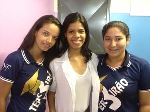 Karina, Alice e Vanessa dizem que temer prejuízos no Enem (Foto: Suzi Rocha/G1)
