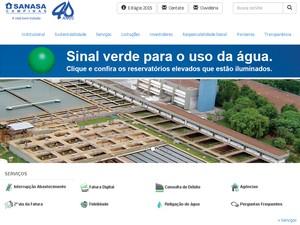 Sanasa divulga 'sinal verde' nesta quinta (27) para consumo em Campinas (Foto: Reprodução / Site)