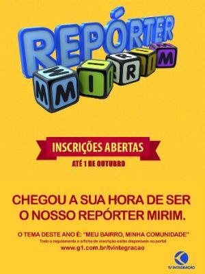 Repórter Mirim da TV Integração (Foto: Reprodução/TV Integração)
