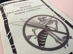 Cordel é criado para conscientizar alunos sobre Aedes em Olinda (Foto: Thays Estarque/ G1)