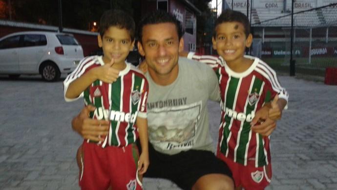 Mattheus e Gianlucca são os filhos gêmeos do Ademir Fonseca (Foto: Arquivo Pessoal)