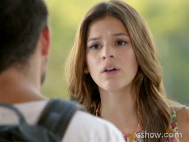 Luiza bate boca com André (Foto: Em Família/TV Globo)