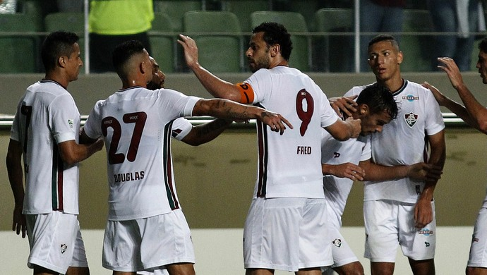 Fluminense jogadores contra Atlético-MG (Foto: NELSON PEREZ/FLUMINENSE F.C.)