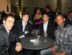 Jogadores do Caxias na festa Melhores do Gauchão (Foto: Diego Guichard/GLOBOESPORTE.COM)