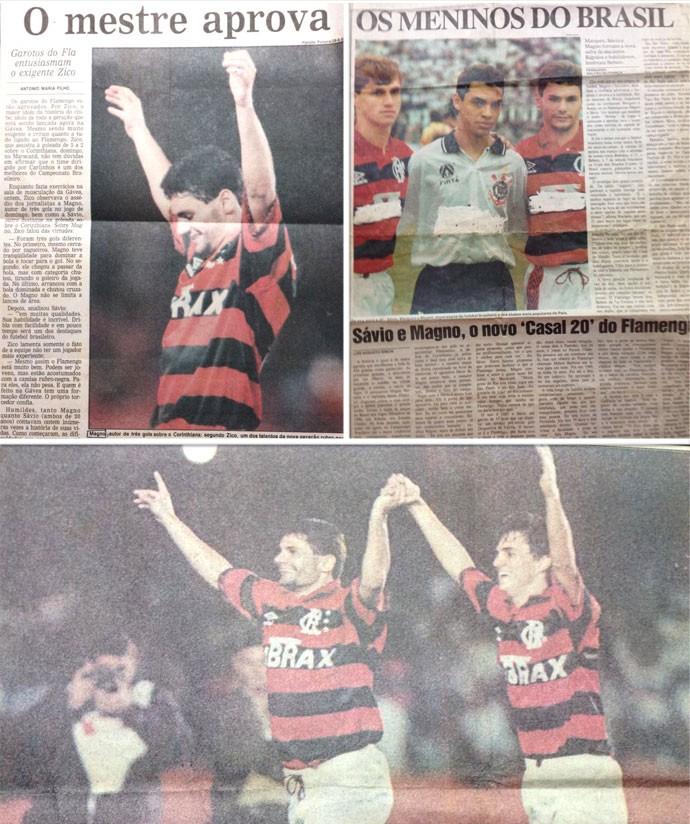 Montagem Magno Flamengo Jornal (Foto: Editoria de Arte)