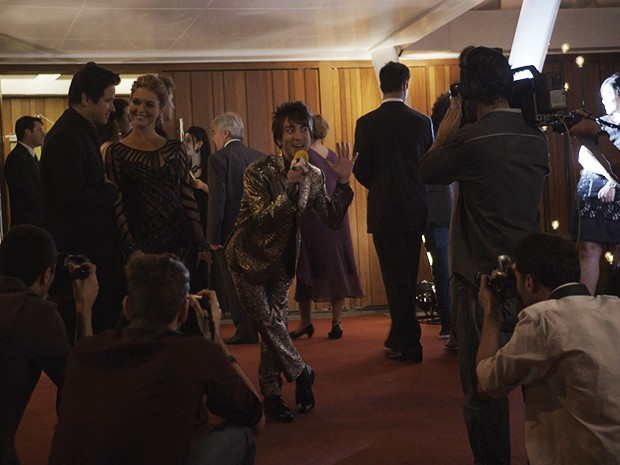 Shin-Soo entrevista Jonas e Pamela Parker-Marra no evento da Khan Academy (Foto: Parker TV)