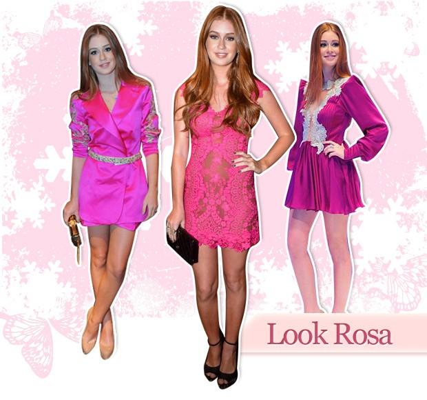 Look Rosa (Foto: Arte: Eduardo Garcia)