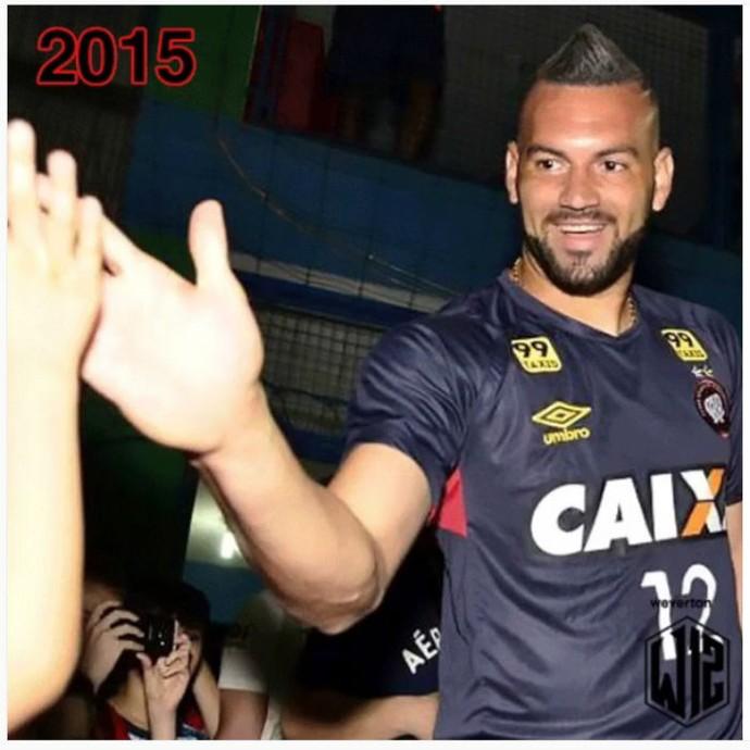 Goleiro Weverton do Atlético-PR 2015 (Foto: Reprodução/Instagram)