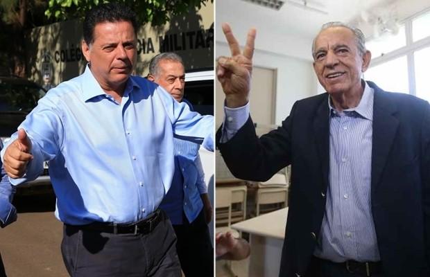 Marconi Perillo (PSDB) e Iris Rezende (PMDB) disputam o governo de Goiás (Foto: Wildes Barbosa/O Popular)