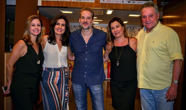 Fátima Bernardes, Dan Stulbach e Abel Braga (Foto: Webert Belicio / Ag News)