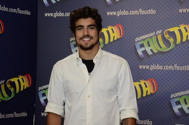 Caio Castro grava Domingão do Faustão (Foto: Roberto Teixeira / EGO)