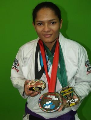 Atleta Tatiane Cassiano vai ministraa aulas grátis de Jiu-jitsu através de projeto do IFRR (Foto: Divulgação)