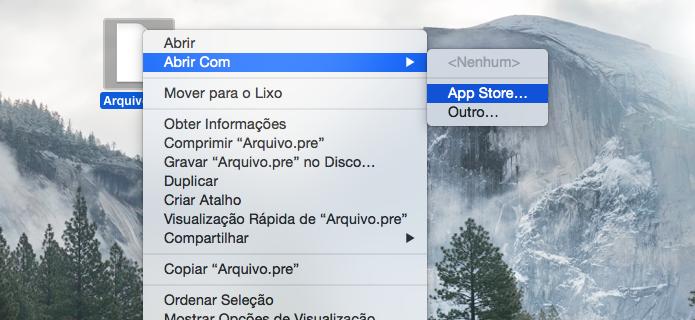 Localizando aplicativos compatíveis com a extensão do arquivo (Foto: Reprodução/Helito Bijora)
