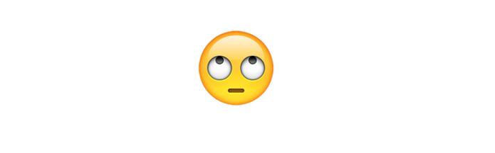 Emoji revirando olhos mostra deprezo ou desdenho a alguém (Foto: Reprodução/emojipedia)