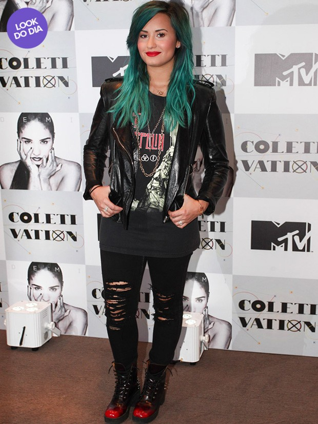 Look do dia - Demi Lovato (Foto: Manuela Scarpa / Foto Rio News)