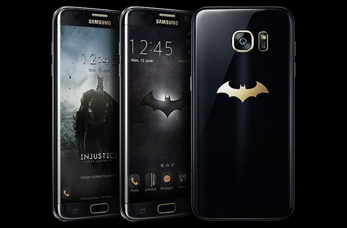 Galaxy S7 Edge com o símbolo do Homem-Morcego (Foto: Divulgação/Samsung)