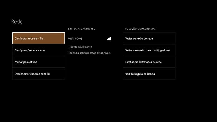 Veja o status da Xbox Live no menu (Foto: Reprodução/Murilo Molina)