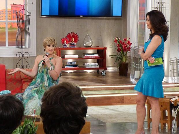 Samantha é convidada ao programa Encontro com Fátima Bernardes (Foto: Viviane Figueiredo/Gshow)