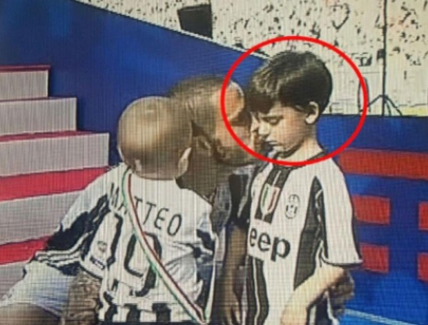 Bonucci com o filho Lorenzo