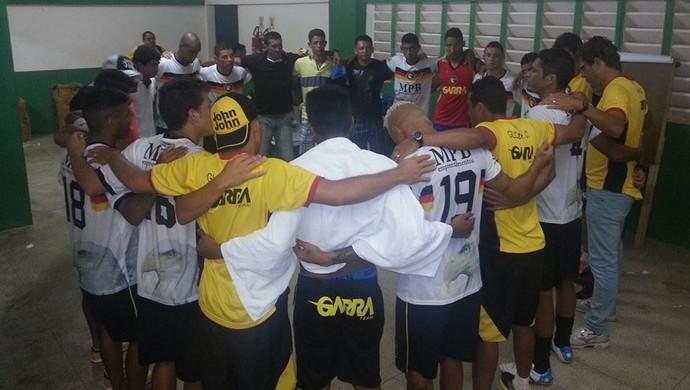 Globo FC comemora vitória em amistoso contra o América-RN (Foto: Canindé Pereira/Divulgação)