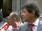 Haddad e Alckmin são hostilizados ao deixarem missa por SP na Sé