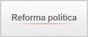 Selo Agenda Reforma Política (Foto: Editoria de Arte/G1)