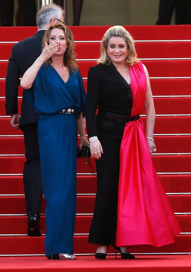 Catherine Deneuve na cerimônia de abertura do Festival de Cannes 2015 (Foto: Getty Images)