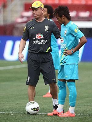 Mano Menezes e Neymar, Brasil (Foto: Mowa Press)