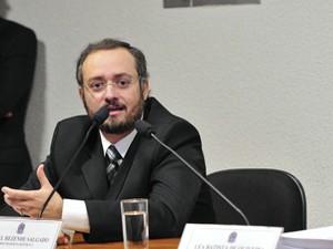 Procurador Daniel Salgado fala à CPI (Foto: Agência Senado)
