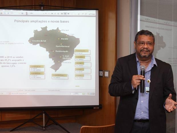 Presidente da Petrobras Distribuidora, José Lima de Andrade Neto apresenta o Plano de Negócios 2011 - 2015 e os Resultados do 1º semestre de 2011, no Rio de Janeiro (Foto: Divulgação/Agência Petrobras)