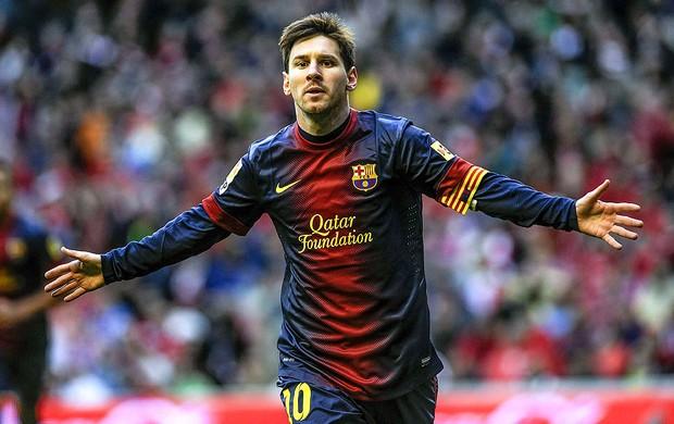 lionel messi barcelona gol Atlético Bilbao (Foto: Agência EFE)