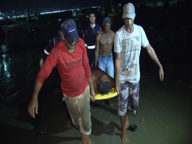resgate de pescadores de Rn em Fortaleza (Foto: TV Diario/Reprodução)