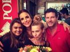 Ivete Sangalo janta com Preta Gil e Carolina Dieckmann no Rio