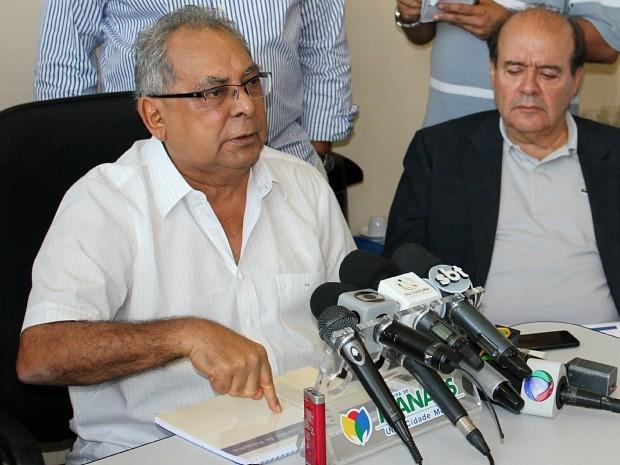 Prefeito de Manaus, Amazonino Mendes (Foto: Marcos Dantas/G1)