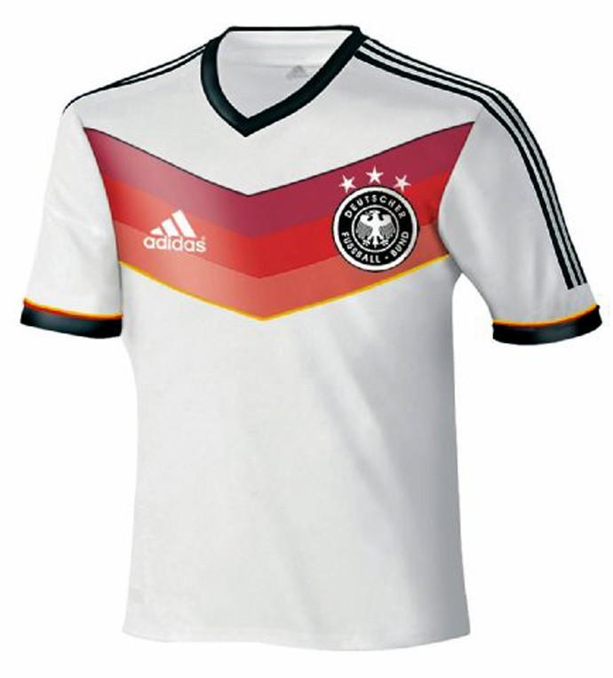 Jornal divulga camisa da Alemanha para a Copa 4f31cf1557c23