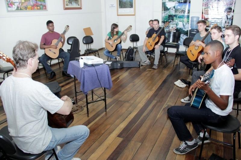 Oficinas de música no Festival de Domingos Martins (Foto: Divulgação)