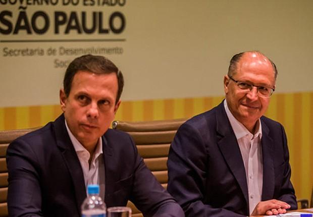 O prefeito de São Paulo, João Doria (PSDB), e o governador paulista Geraldo Alckmin (PSDB) (Foto: Alexandre Carvalho/SECOM)