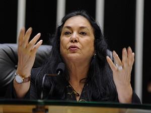A vice-presidente da Câmara, Rose de Freitas (PMDB-ES), no comando de sessão nesta quinta (29) (Foto: Luis Macedo/Agência Câmara)