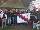 Policiais civis se manifestam durante abertura da 5ª Rondônia Rural Show