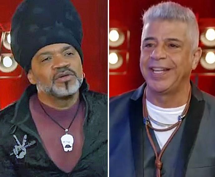 Brown e Lulu comentam apresentações dos seus times (Foto: TV Globo)