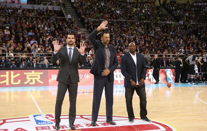 Peja Stojakovic, Vlade Divac e Mitch Richmond NBA (Foto: Getty Images)