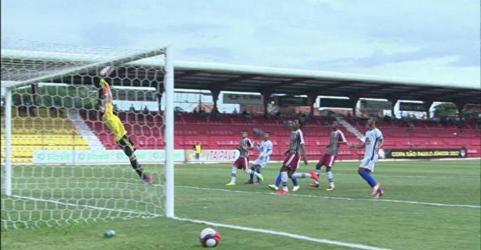 Interporto-TO x Fluminense gol  (Foto: Reprodução)