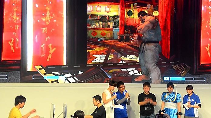 Daigo Umehara e Bruce Hsiang se enfrentaram em Street Fighter 5 durante a feira Taipei Game Show (Foto: VG247)