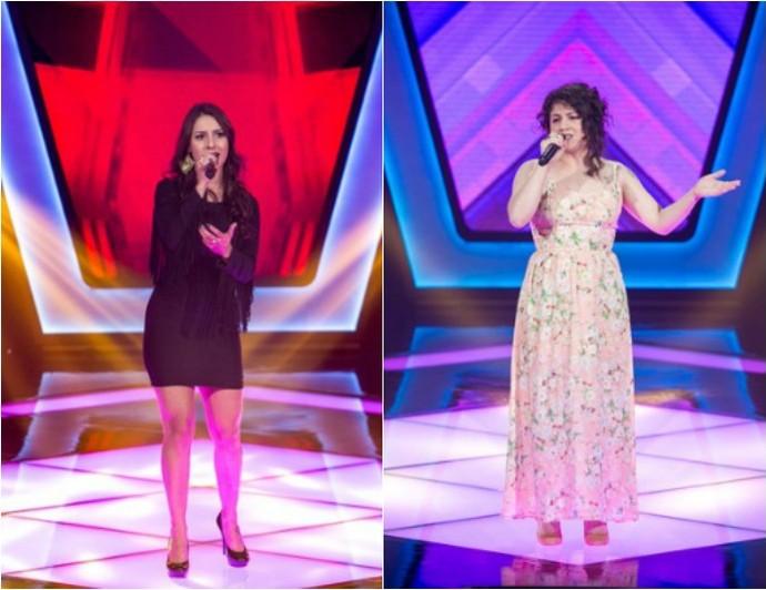 Lariani Acevedo e Aretha Lima no The Voice Brasil (Foto: Montagem sobre fotos/Isabella Pinheiro/Gshow)